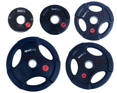 Olimpiniai gumuoti svarmenys Sportbay® (1.25-25kg)