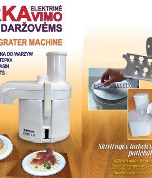 Elektrinė bulvių tarkavimo mašina